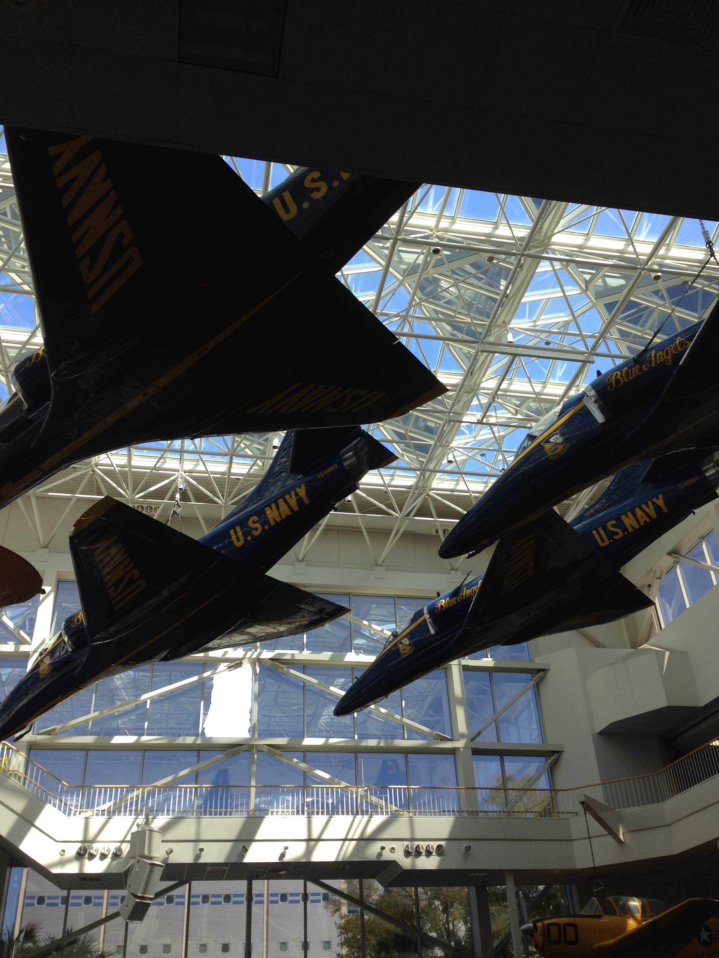 Blue Angels at the National Aviation Musuem at Pensacola Naval Air Station